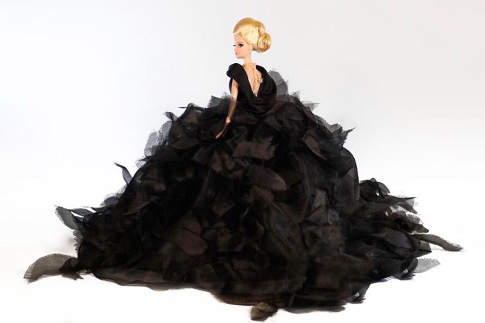 barbie vestido negro