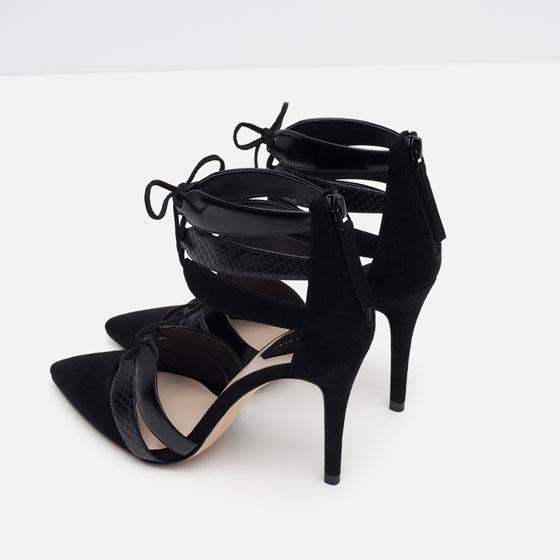 Zapato punta tacón negro